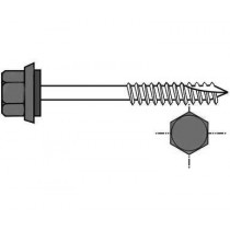 Screws for wooden frameworks for 40 mm insulated tile sheet (per 100) - Anthracite grey, A80