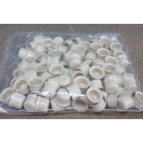Capuchons Plastiques RAL 1015, 100 Pièces