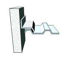 Wall-abutting flashing -  galvanised