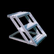 Multi-purpose staircase - 4 steps - galvanised