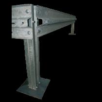Corner post with fastenings kit