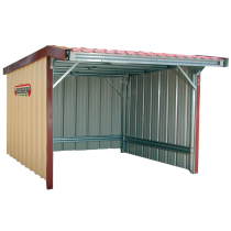 Sided shelter with awning in kit form 9 x 6 m