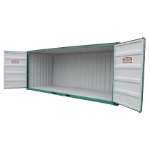 Container de stockage -LC 20 container opens fully along its entire length