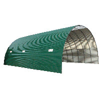 Tunnel with corrugated sheet roof (H: 3.90 m - L: 30 m)