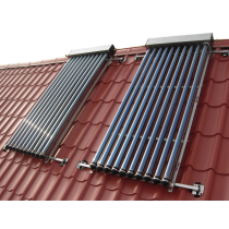 Tubular solar water heater with two 3.42 m² panels