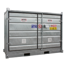 """""""Safety +"""" Low, 2-pallet galvanised storage cell (isolated)"""