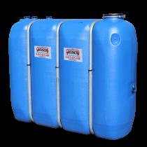 Rectangular food quality HDPE tank, 2000L