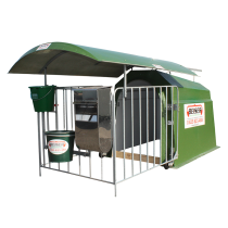 """1-place polyester calf hut with rail-mounted roof - """"4-star"""" model"""
