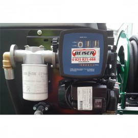 Wall-mounted pump, 100 L/min, with support bracket, automatic gun and hose