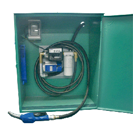 Cabinet with wall-mounted pump, 60 L/min