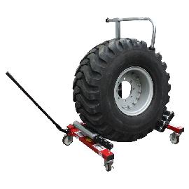 Handling trolley for tractor wheel