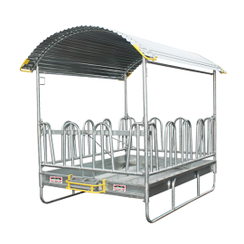 Hay rack with secure tombstone feed front 2 x 2m - 12 places