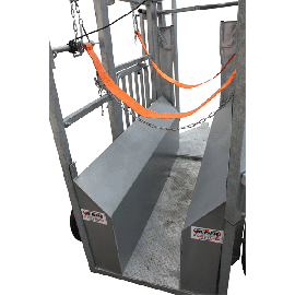 Width reducer for cattle chute