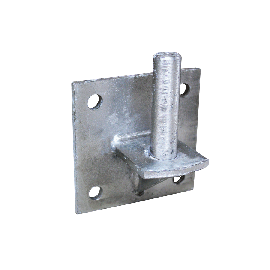 Bolt-down fastening for pasture barrier