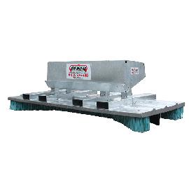 Galvanised push broom Top of the range – width 2.50 m