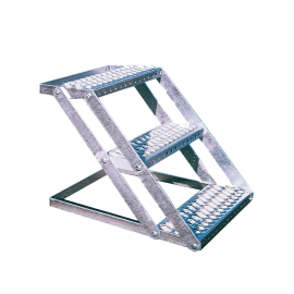 Multi-purpose staircase - 3 steps - galvanised