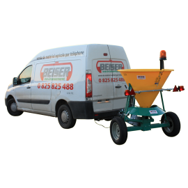 Salt spreader 350 L on wheels