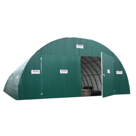 Door for tunnel in corrugated sheeting