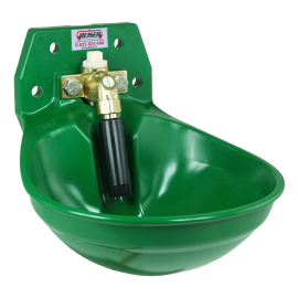 Green drinking trough with high and low connection