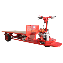 Motorised cart 360 ° with tipper tray