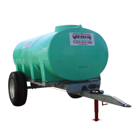 6000 L HDPE plastic tank on agrarian chassis