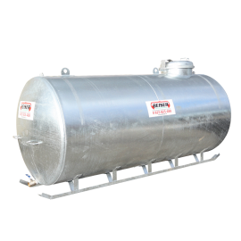 Galvanised tank on legs, 5000L