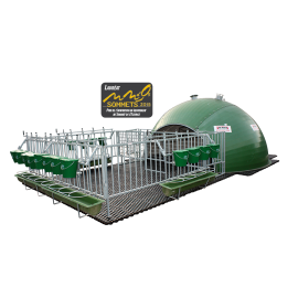 Full insulated 16-calf igloo cage with full park and duckboard