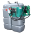 "Odourless HDPE double wall fuel station, 1500 L ""Confort+"" with winding reel"