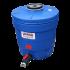 Beiser Environnement - Citerne ronde 350 litres en plastique PEHD bleue compacte qualité alimentaire - Vue d'ensemble