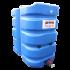 Beiser Environnement - Citerne 3000 litres en plastique PEHD bleue compacte qualité alimentaire - Vue d'ensemble