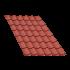 Beiser Environnement - Tôle tuile terra cotta, 2,5 m