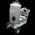 Stainless steel 130-L milk-dispensing trolley with 12 V dispenser