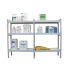 Shelves in kit format, 4 m, for phytosanitary room