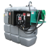 Secured and odourless HDPE double wall fuel station - 1500 L  - Model Confort +