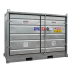 """Safety +"" Low, 2-pallet galvanised storage cell (isolated)"