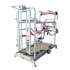 Galvanized manual medical cattle chute