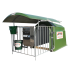 "1-place polyester calf hut with rail-mounted roof - ""4-star"" model"