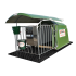 "1-place polyester calf hut with rail-mounted roof and full grating (hut + pen) - ""4-star"" model"
