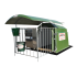 "1-place polyester calf hut with rail-mounted roof and grating (hut) - ""4-star"" model"