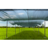 Mobile shade with steel structure and shade cover