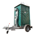 Mobile toilet on trailer