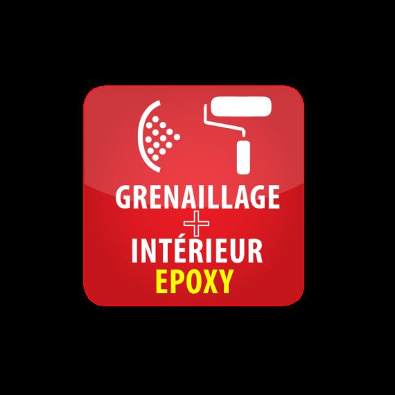Grenaillage + revêtement intérieur de protection époxy pour citerne 100 000Litres
