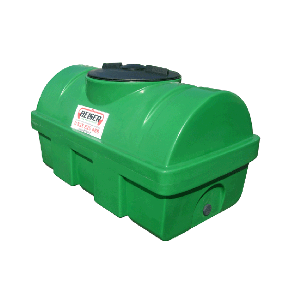 Green HDPE tank, 500 L, density 1300 kg/m3 (EP)