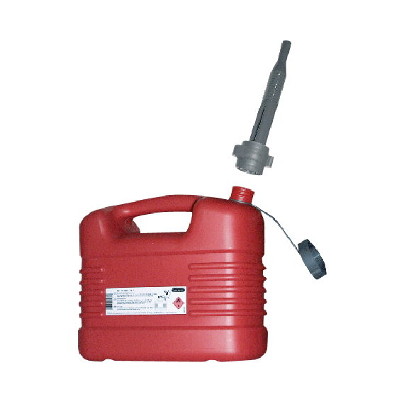 Polyethylene jerrycan for fuel, 10L