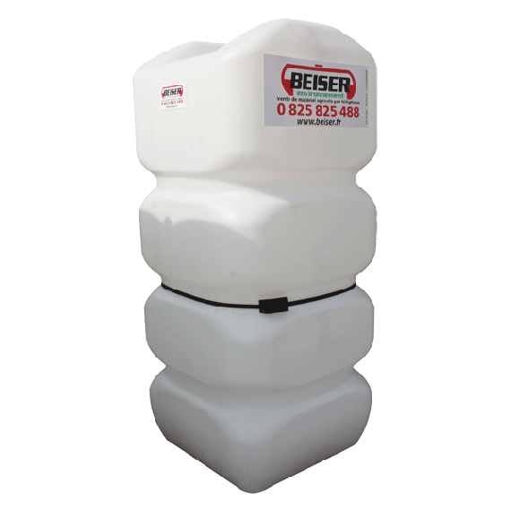 HDPE reinforced white fuel tank, 700L