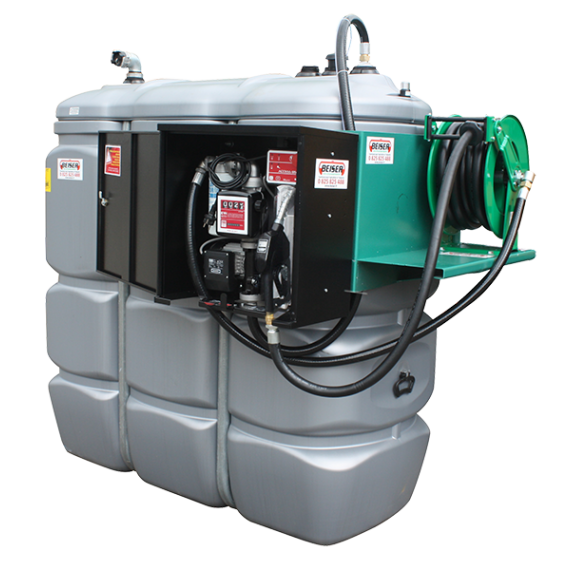 Secured and odourless HDPE double wall fuel station - 1000 L  - Model Confort +