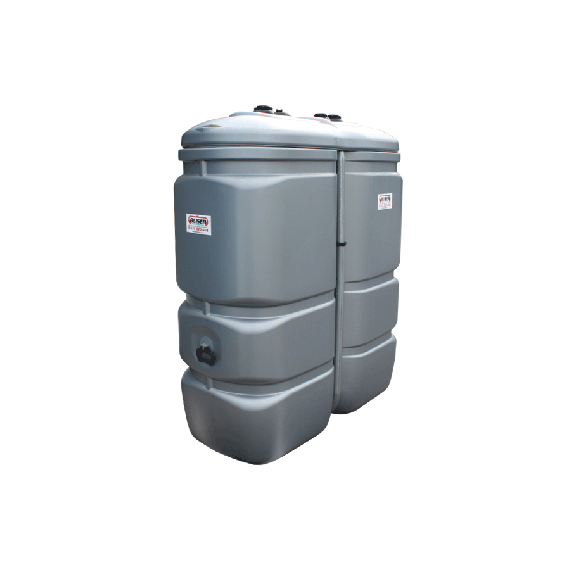 Odourless HDPE double wall fuel tank, 1000 litres - GRAY