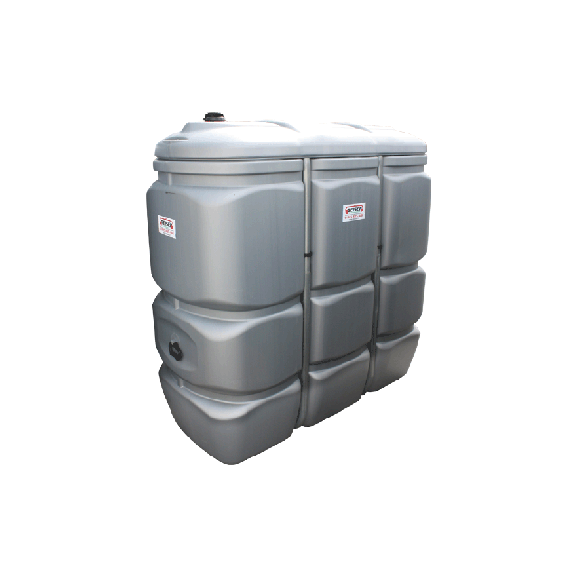 Odourless HDPE double wall fuel tank, 1500 litres - GRAY
