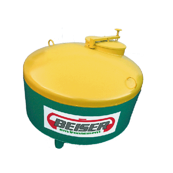 STEEL storage tank for used oils, 750L