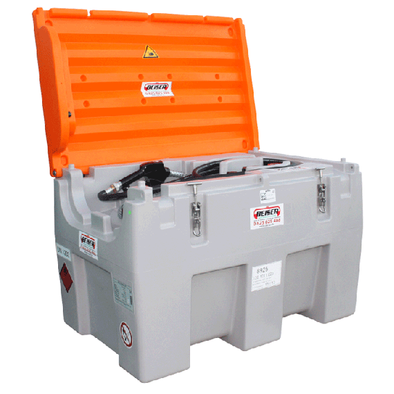 Transport pack 600L with protective cover